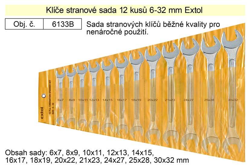 Klíče stranové sada 12 kusů 6-32mm W.S