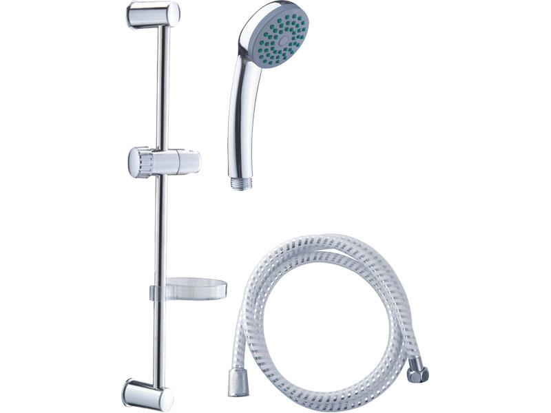 sada sprchová velká, 1funkční hlavice, držák na sprchu, hadice 150cm, držák na mýdlo, tyč