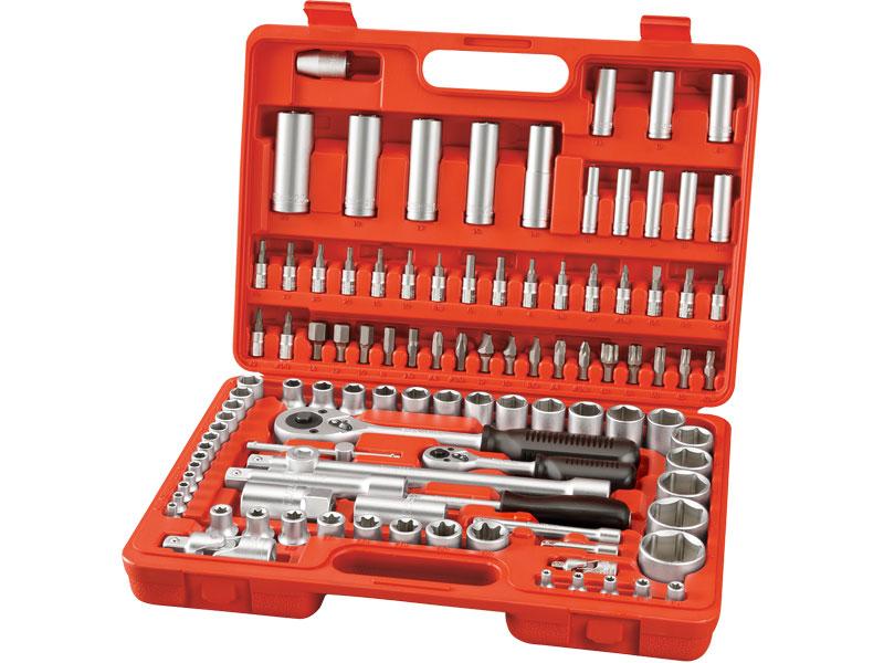 klíče nástrčné, sada 108ks, CrV, S2, EXTOL PREMIUM Nářadí 7.2Kg MA6528
