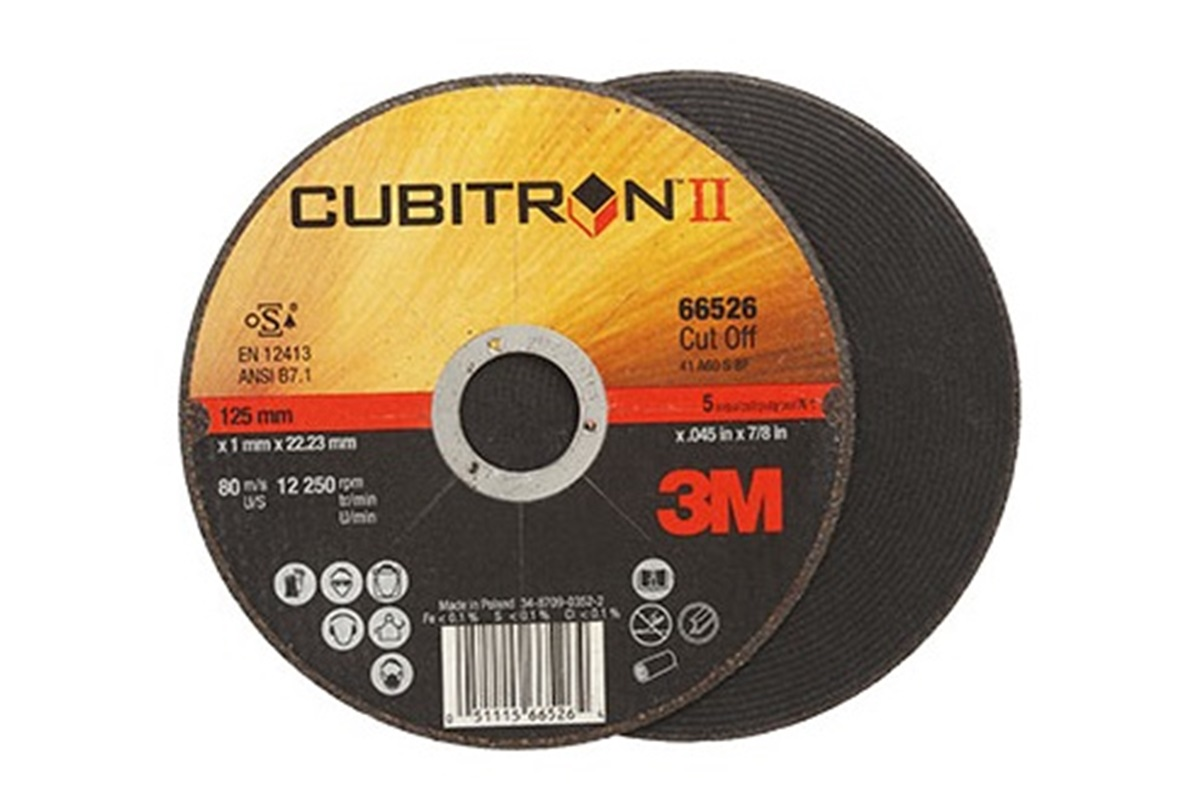 3M Řezný kotouč na ocel/nerez 125x1.0mm Cubitron™ II Nářadí 0.033Kg 65512