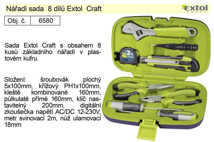 Nářadí sada  8 dílů Extol  Craft