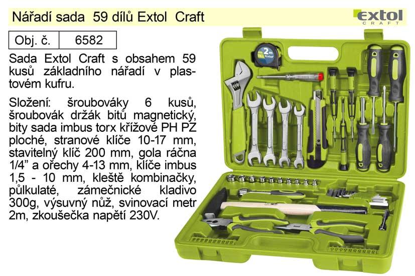 Nářadí sada 59 dílů Extol  Craft