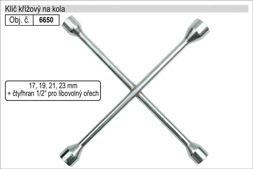 Klíč křížový na kola 17x19x21x23mm