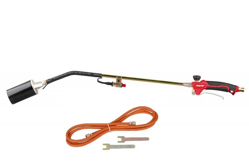 FESTA Plynový hořák na Propan Butan pr.60mm, 850mm, 60kW, PIEZO zapalování, hadice 5m