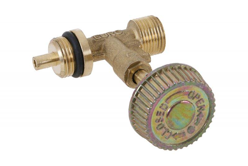 """FESTA Jednocestný uzavírací ventil k 2kg lahvi G3/8"""", redukce na malou bombu"""