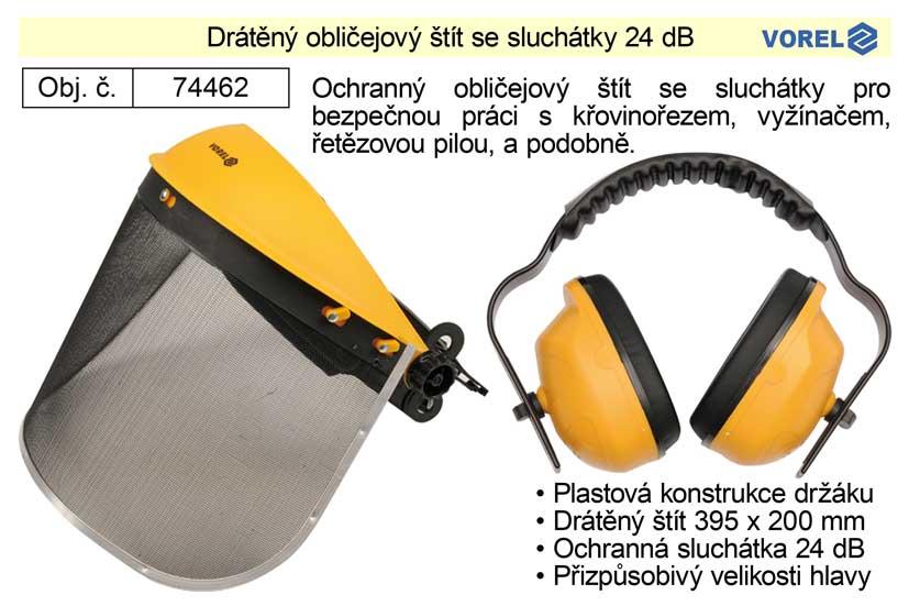 Obličejový štít se sluchátky Vorel