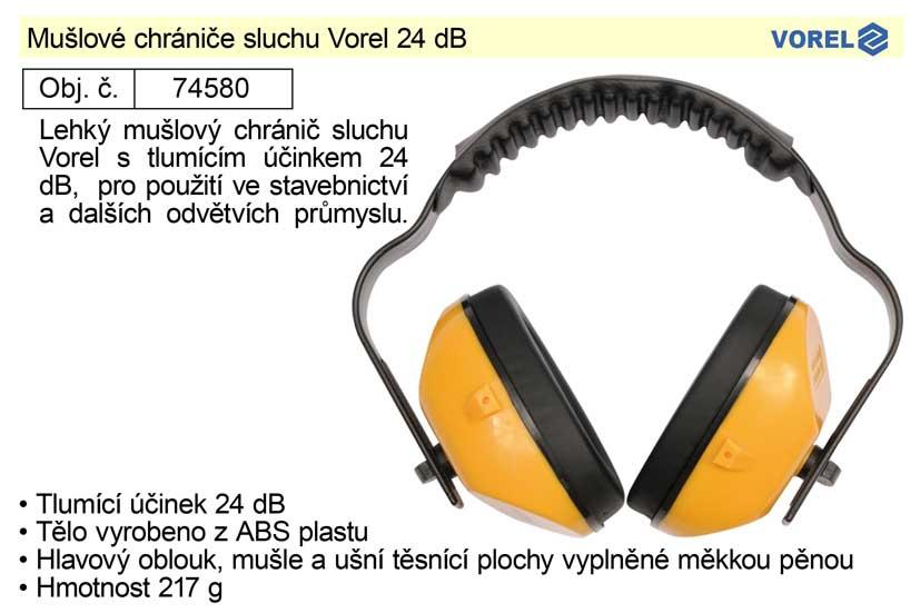 Mušlové chrániče sluchu Vorel 24 dB