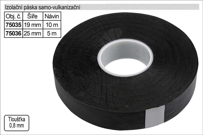 Izolační páska elektrikářská samovulkanizační 19mm délka 10m černá