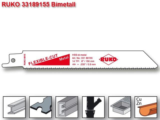 List pro ocasku mečovou pilu HSS Bi-metal 152mm Ruko