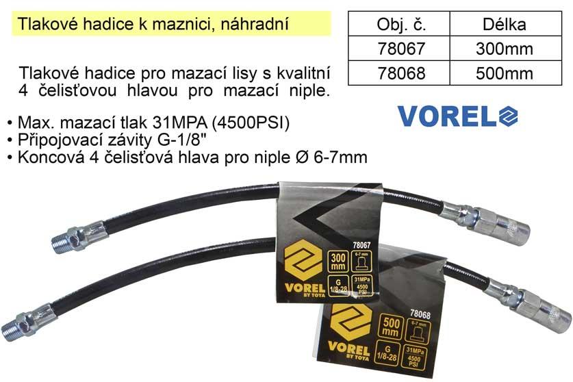 Tlaková hadička 78068 k maznici náhradní délka 500mm