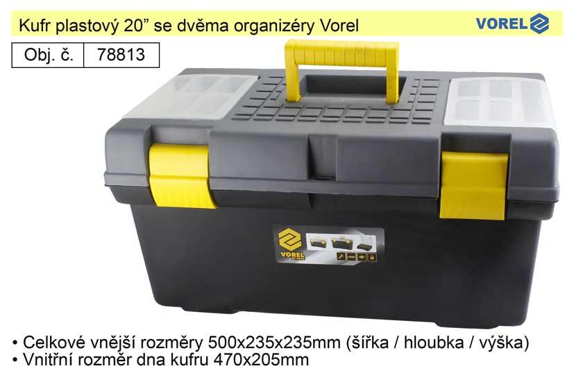 """Kufr plastový 20"""" Vorel 78813"""
