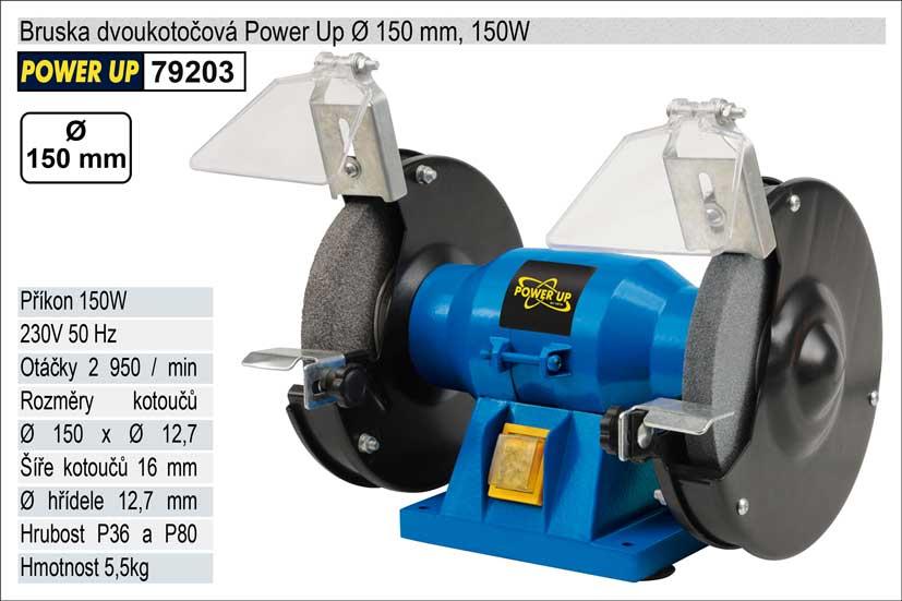 Bruska dvoukotoučová Power Up 150mm, 150W