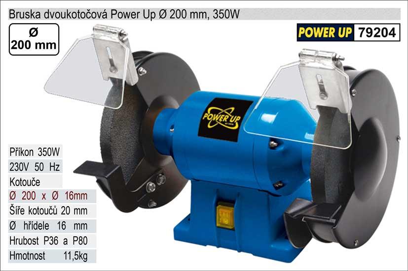 Bruska dvoukotoučová Power Up 200mm 350W