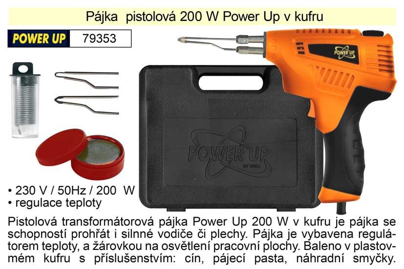 Pájka pistolová 200 W Power Up v kufru