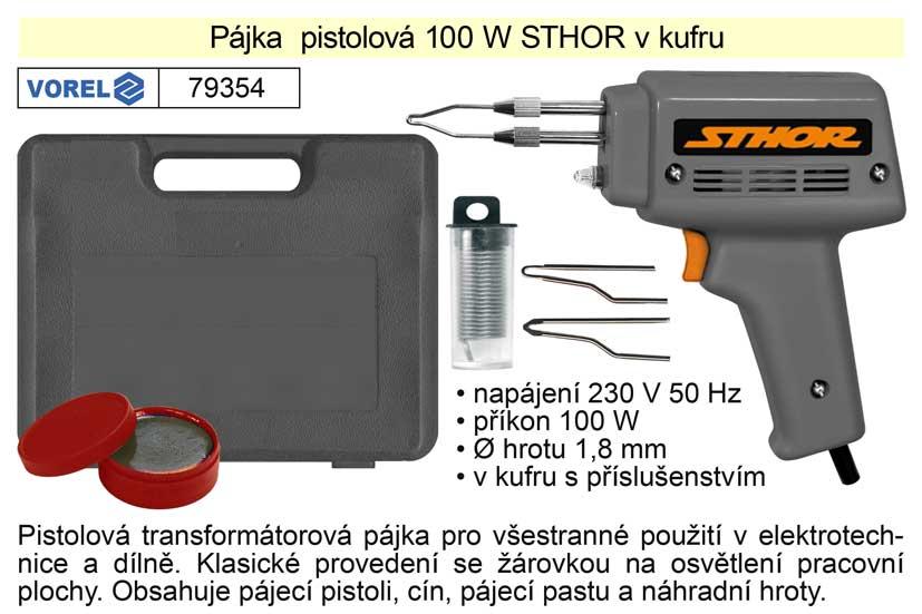 Pájka pistolová 100 W Sthor v kufru