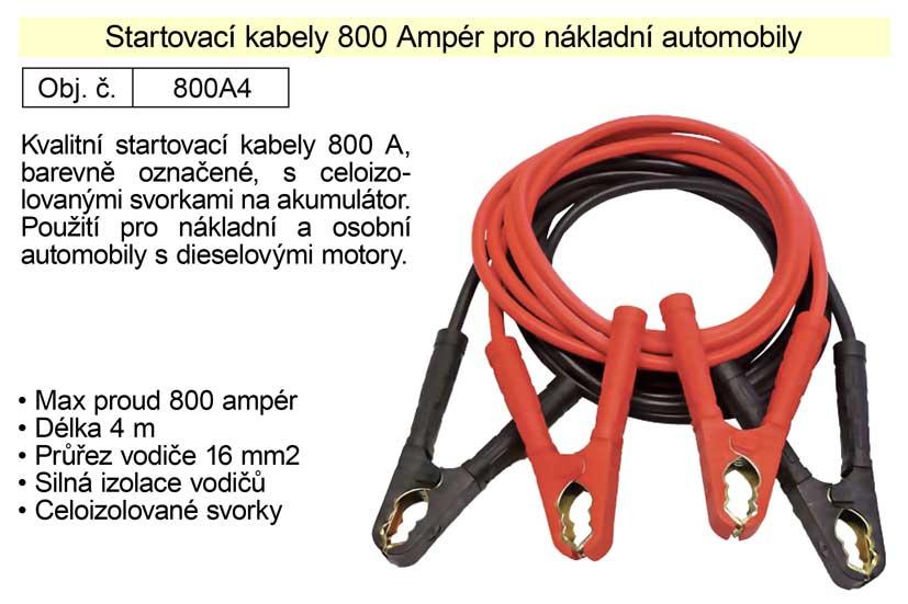 Startovací kabely 800 A, 6m