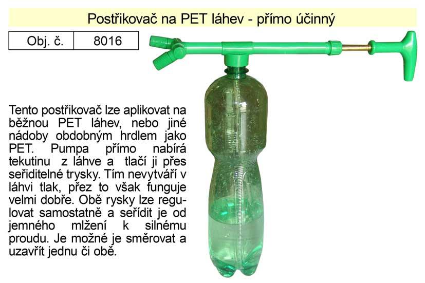Postřikovač na PET lahev přímoúčinný