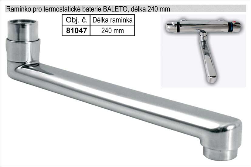 Ramínko pro termostatickou baterii chromované délka 240mm