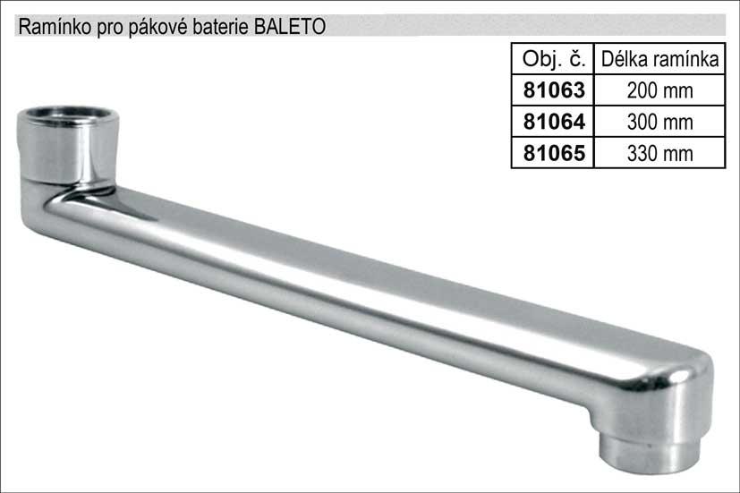 Ramínko pro pákové baterie rovné délka 330mm chromované