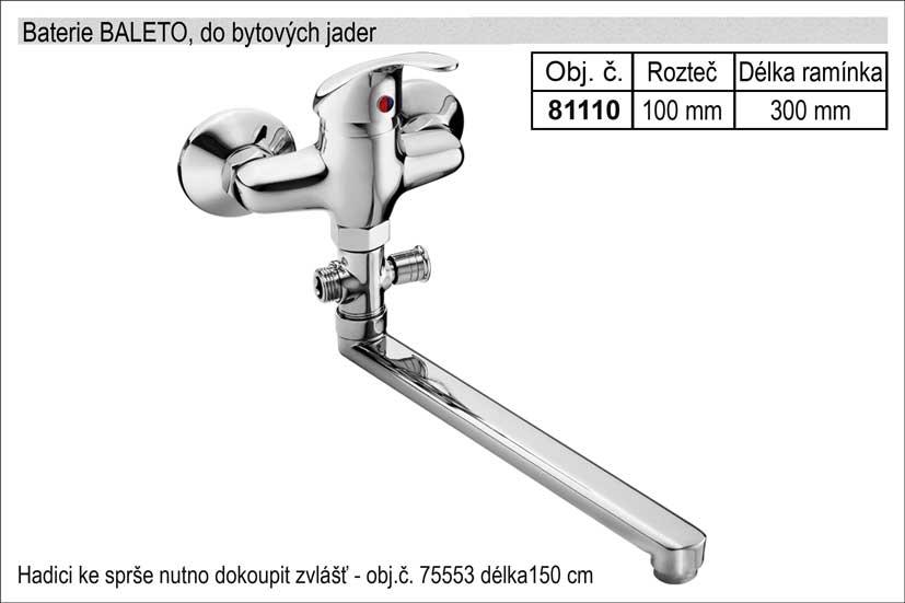 Baterie do bytových jader 100mm chromovaná délka ramínka 300mm Nářadí 1.42Kg MA81110