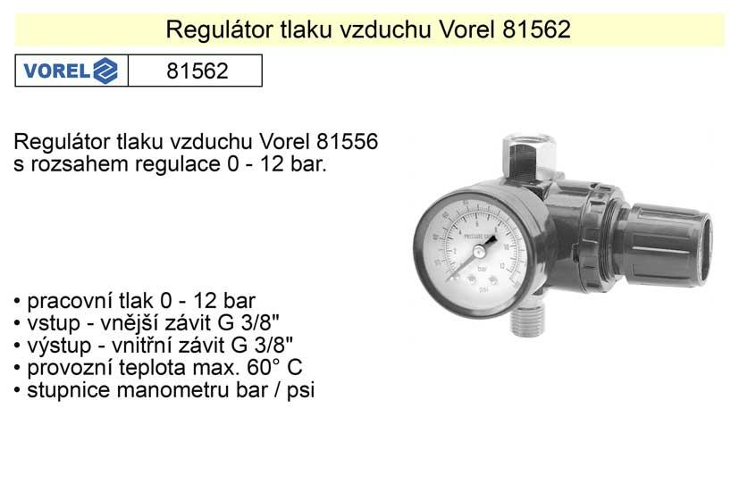 Regulátor tlaku vzduchu Vorel 81562 Nářadí 0.24Kg TO-81562
