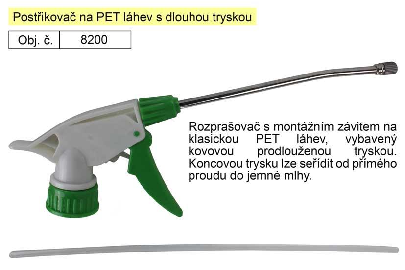 Postřikovač na PET lahev s dlouhou tryskou