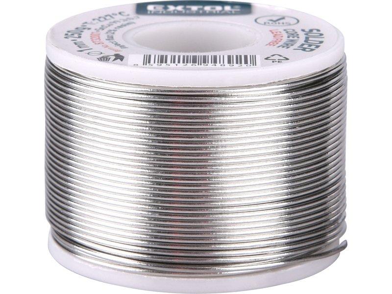 drát pájecí trubičkový(cín),1mm, Sn99,3/0,7Cu, 250g, EXTOL INDUSTRIAL
