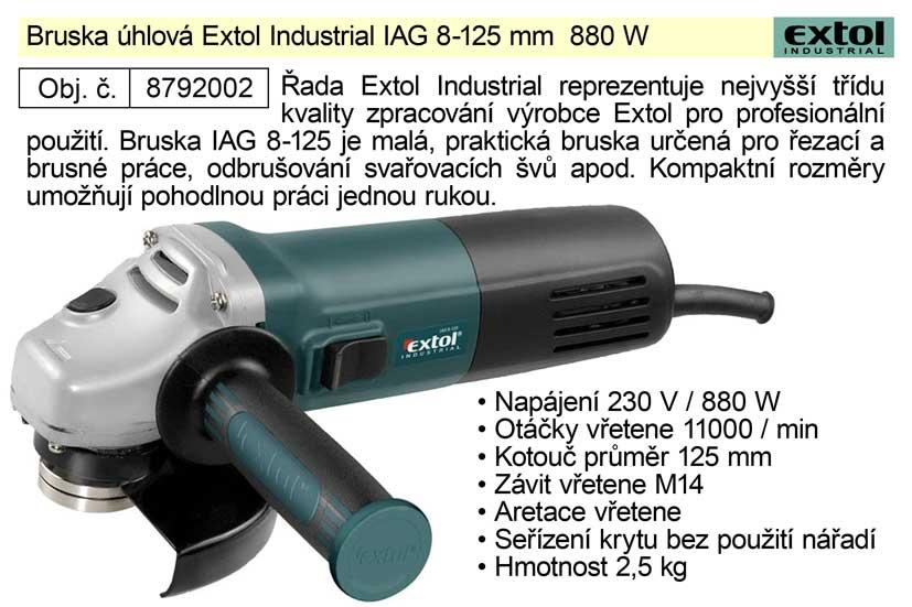 Bruska úhlová 125 mm 880 W Extol Industrial 8792002