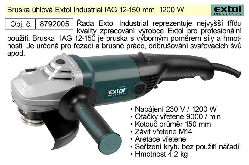 Profi úhlová bruska 150mm, 1200W, EXTOL INDUSTRIAL