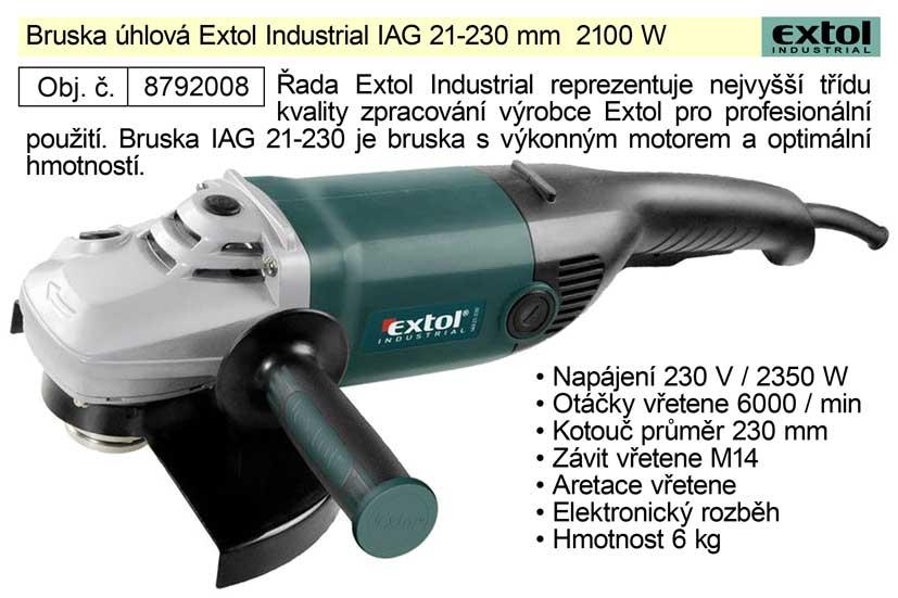 Profi úhlová bruska 230mm, 2100W, EXTOL INDUSTRIAL