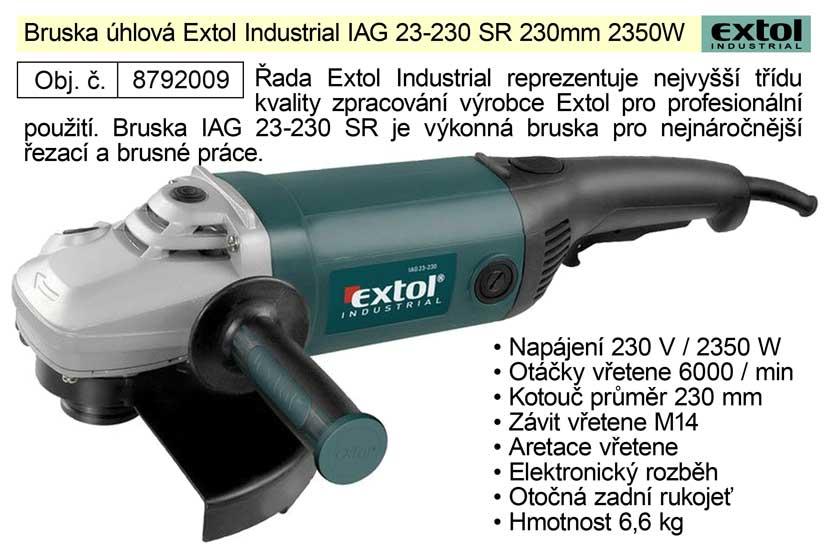 Bruska úhlová 230 mm 2350 W Extol Industrial 8792009