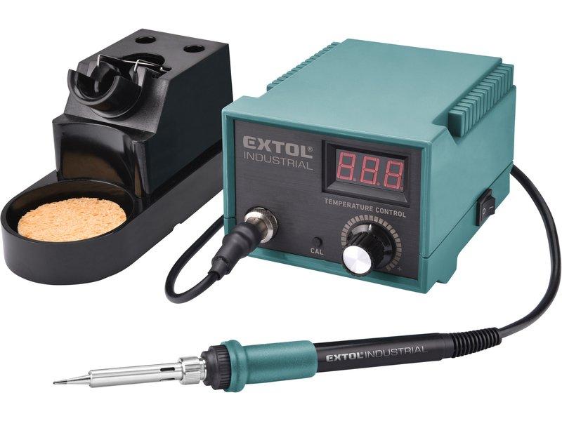 EXTOL INDUSTRIAL stanice pájecí s LCD a elektronickou regulací teploty a kalibrací 8794520