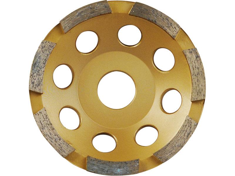 kotouč diamantový brusný jednořadý, 125x22,2mm, výška segmentů 5mm, počet segmentů 7, EXT