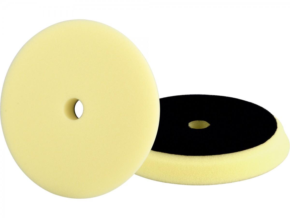 EXTOL PREMIUM kotouč leštící pěnový, orbitální, T80, žlutý, d150x25mm, suchý zip d127mm