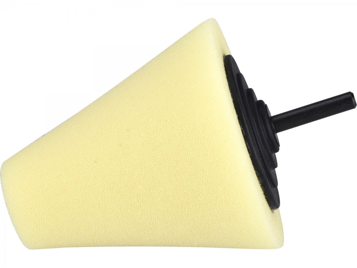 EXTOL PREMIUM kužel leštící pěnový, T80, žlutý, 80mm, stopka 6mm