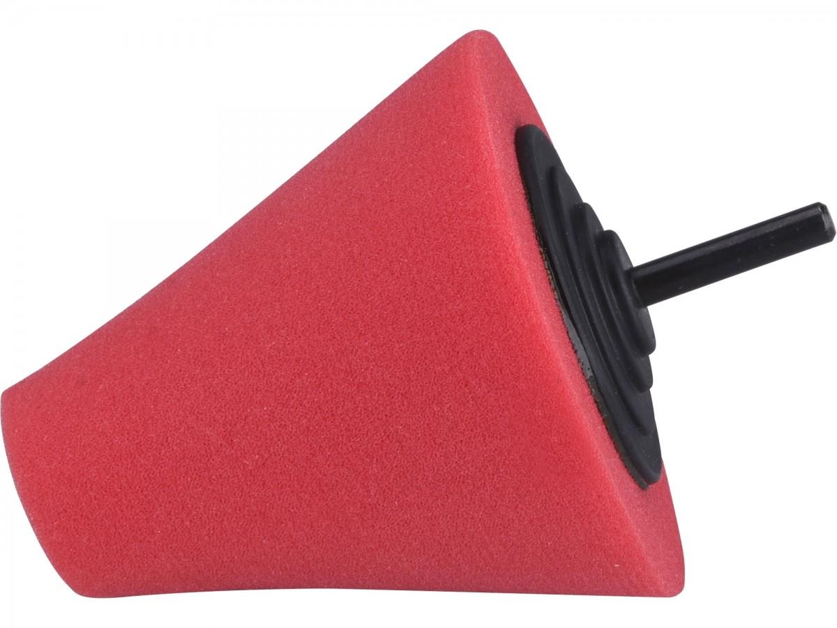 EXTOL PREMIUM kužel leštící pěnový, T10, červený, 80mm, stopka 6mm