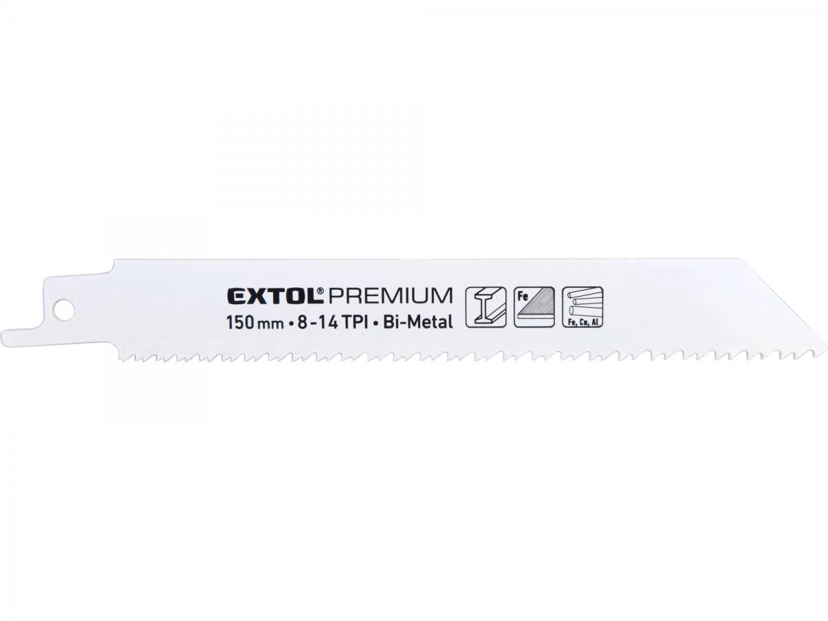 EXTOL PREMIUM plátky do pily ocasky na kov 3ks, 150x19x0,9mm, Bi-metal 8806205 Nářadí 0.062Kg MA8806205