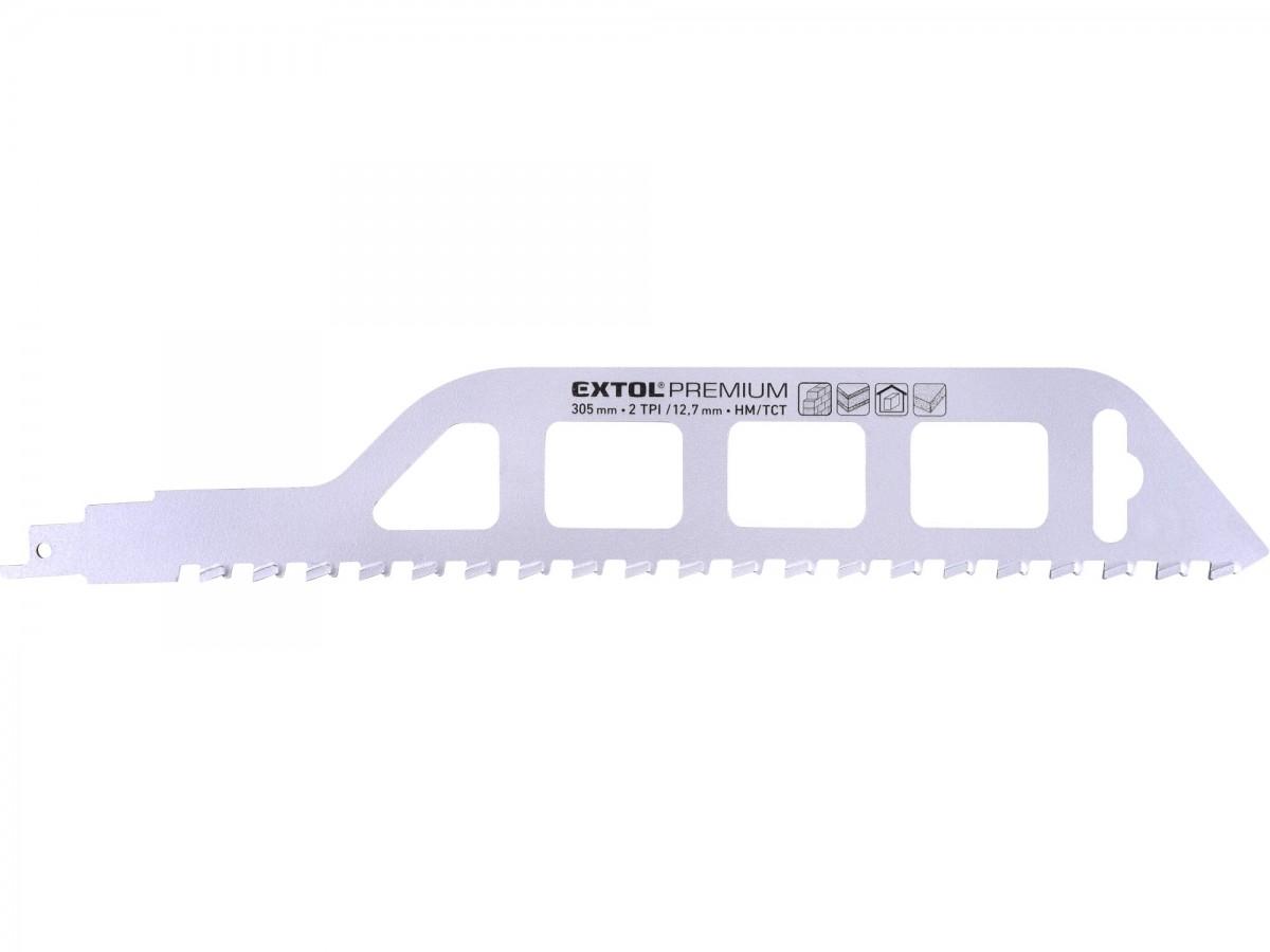 EXTOL PREMIUM plátek do pily ocasky s SK zuby, 305x50x1,5mm 8806300