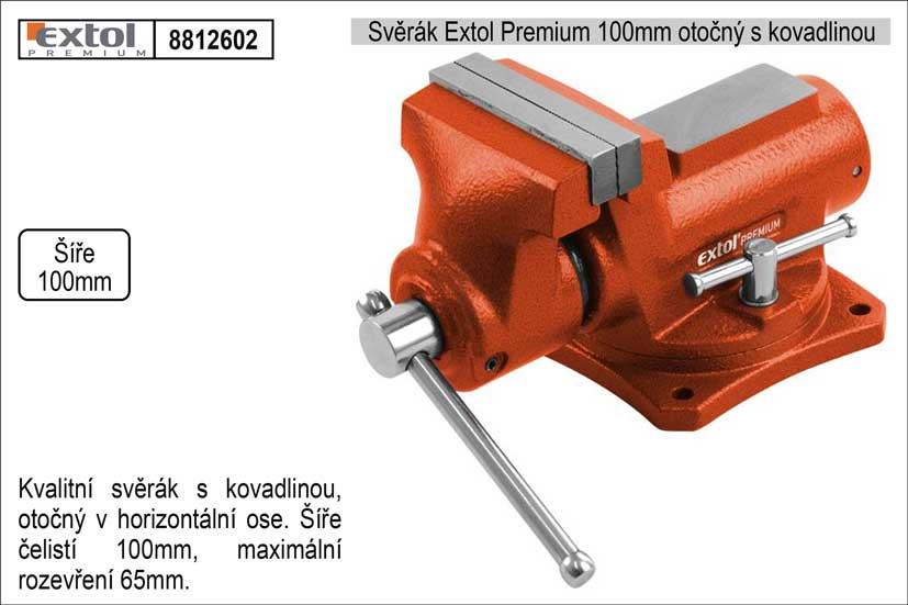 Svěrák Extol Premium 100 mm otočný s kovadlinou