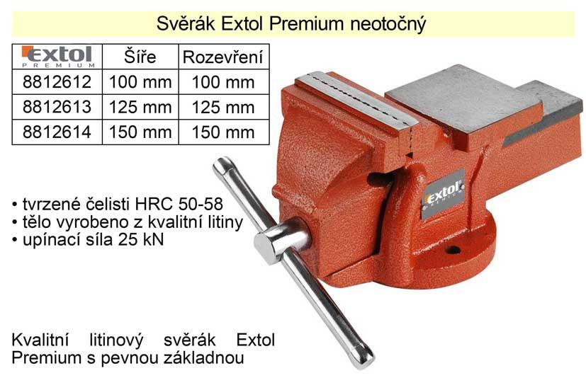 Svěrák Extol Premium neotočný 150 mm
