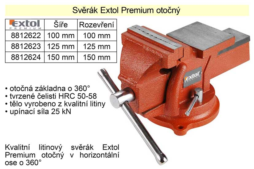 Svěrák Extol Premium otočný 150 mm