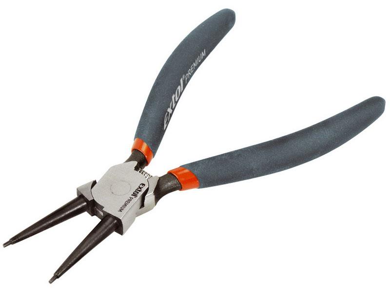 Kleště seeger pro pojistné kroužky  přímé vnitřní, délka 175mm Extol Premium