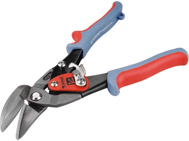 Nůžky na plech, převodové, vystřihovací, pravé,  CrMo-V, délka 255 mm, Extol Premiu
