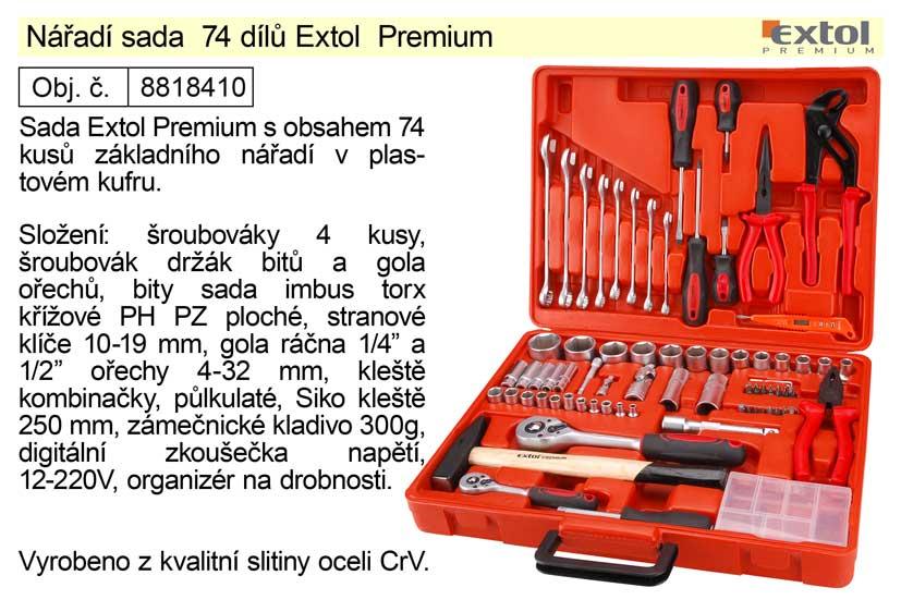 Nářadí sada 74 dílů Extol  Premium