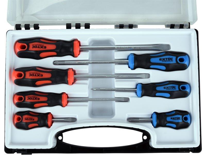 Šroubováky sada 7 kusů, Cr-V, v kufříku, Extol Premium