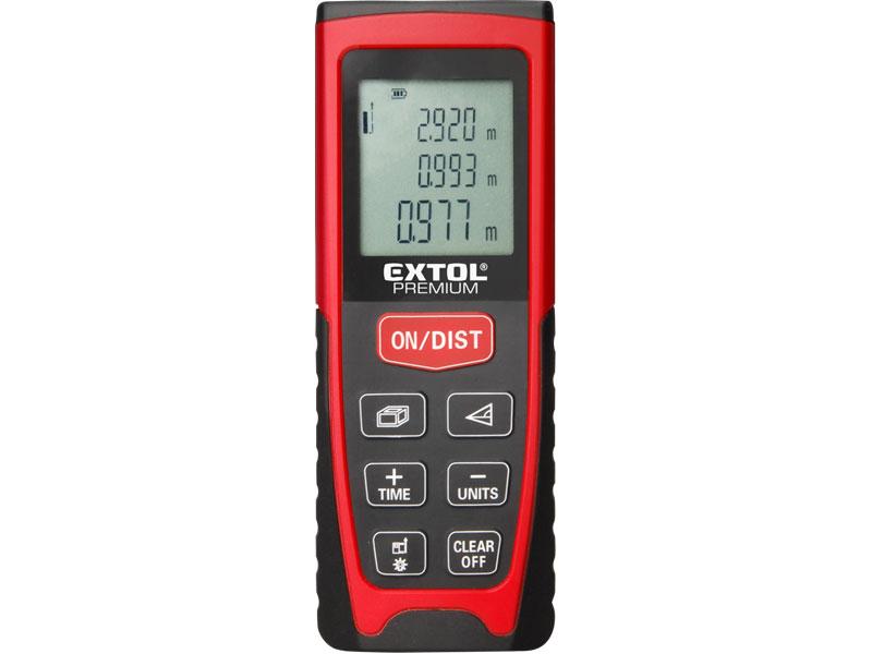 Laserový dálkoměr - digitální měřič vzdálenosti EXTOL PREMIUM