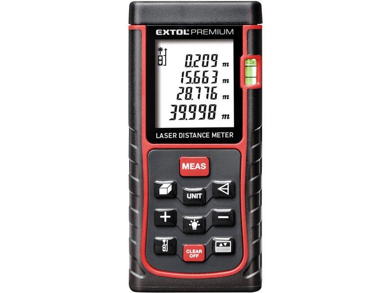 Dálkoměr laserový digitální měřič vzdálenosti 0,05-80m EXTOL PREMIUM