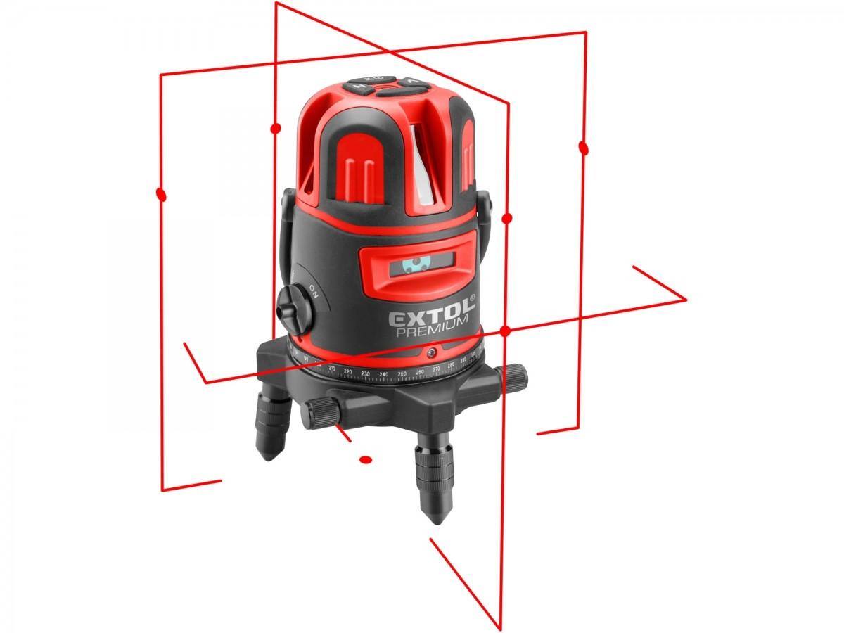 EXTOL PREMIUM laser červený liniový, křížový samonivelační 8823311 Nářadí 1.59Kg MA8823311