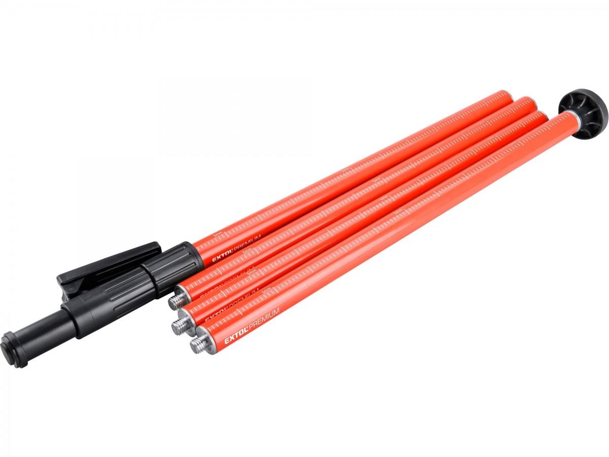 EXTOL PREMium tyč-stativ k laserům, teleskopická/šroubovací , dosah až 3m, D 32mm
