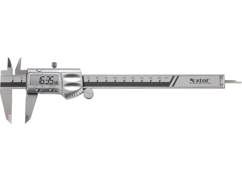 měřítko posuvné digitální kovové, 0-150mm, rozlišení 0,01mm, přesnost ± 0,02mm, pro přesn